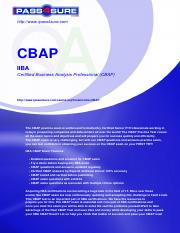 CBAP questions and answers