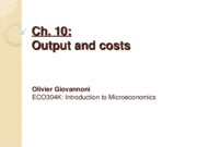 Ch 10 - Output and costs