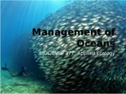 Management of Oceans