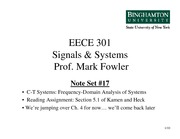 EECE 301 Note Set 17 CT Sinusoidal Response