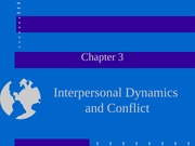 Chapter 3. Interpersonal Dynamics and Conflict (1)