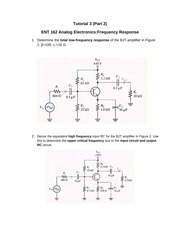 Tutorial 3 frequency response