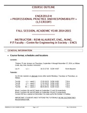 ENGR201 Course Outline