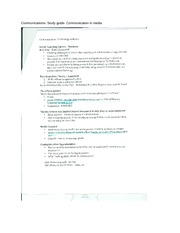 Communications- Study guide- Communication in media