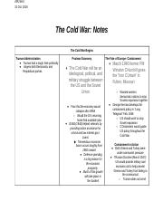 The Cold War: Notes.docx