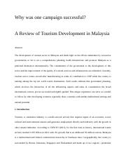 A Review of Tourism Development in Malaysia.docx