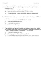 University (Cal-Based) Final Exam Review