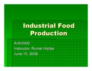 Microsoft PowerPoint - Industrial Food Production