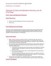 Starwood  Sales and Operations Planing with full compiled paper