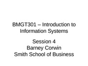 Session 4 BMGT301 - Spr 2012 rev 0