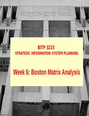 LECTURE 6 PRODUCT PORTFOLIO ANALYSIS