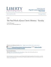 The Final Week of Jesus Christs Ministry - Tuesday.pdf
