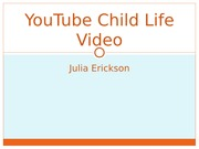 YouTube Child Life Video