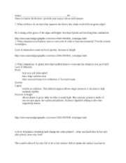 evolution of plants worksheet