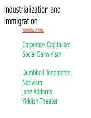 05 - Industrialization & Immigration 2016