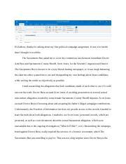 Electronic media essay