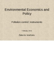 Environmental pollution instruments