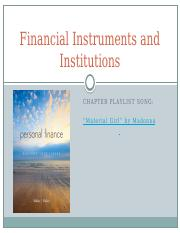 PPT+Chapter+04+-+Financial+Instruments+and+Institutions