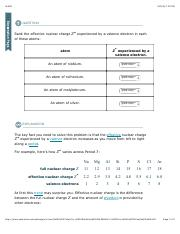 3 Pages Periodic Trends In Effective Nuclear Charge