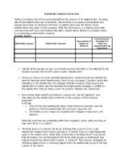 Stakeholder Analysis Matrix Worksheet