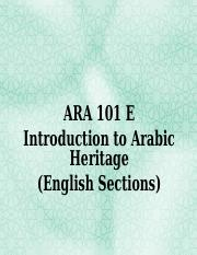 Presentation ARA 101 Arabic Language [1]