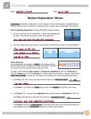 Waves Gizmo Worksheet Answer Key Activity B - Thekidsworksheet