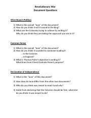 US History Lesson Plan - Revolutionary War Document Questions - 10-10-14.doc