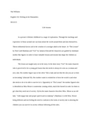 Nia Williams Essay 1.Girl and the Lesson