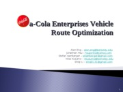 IEOR CocaCola Enterprises Powerpoint