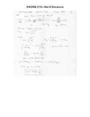 ENGR 215 Set 8 Solutions