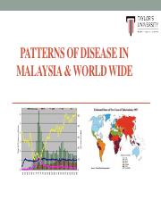 EPI- 6 Patterns of Disease in Malaysia and Worldwide