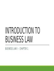 1 - Introduction to Business Law (No Notes).pptx