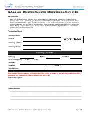 work order documents