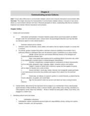 chapter 6 (communicating across cultures)