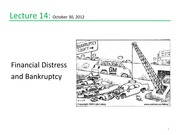 Lecture 14 Financial Distress and Banktruptcy
