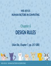 uMIS 459.01 2018 Ch.6 Design Rules.pptx