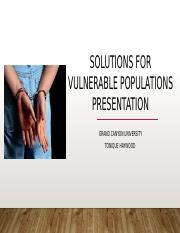 Solutions for Vulnerable Populations Presentation .pptx