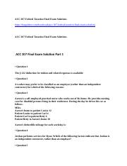 ACC 307 Federal Taxation Final Exam Solutions.docx