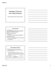 Etiological Theories Notes