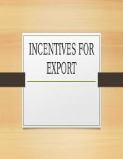 2. export incentives.ppt
