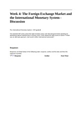 w4 dq2 - The International Monetary System - IMF