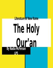 Literature of New Rome The Holy Qur'an