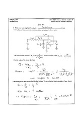 Quiz 30 Solution on Linear Circuit Analysis II