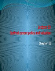 Lecture 10 Optimal payout policy and valuation.pptx
