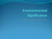 Environmental Significance.ppt