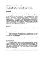 ME4611 LabManual experiment 5-Internal Combustion Engine Performance