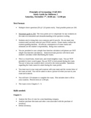 Study Guide Midterm 2 Fall 2015