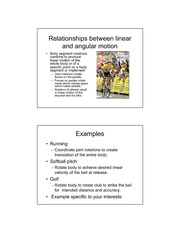 Linear-Angular Relationships