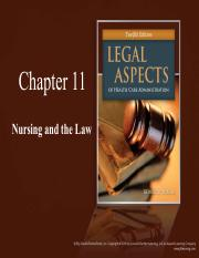 CH11 Nursing and the Law