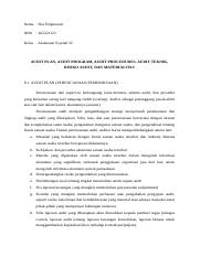 Auditing Resume 6 Docx Nama Nur Hiqmawati Nim 16522122 Kelas Akuntansi Syariah 5c Bukti Audit Dan Tes Transaksi Menurut Sa 500 Iapi 500 2 500 4 500 5 Course Hero